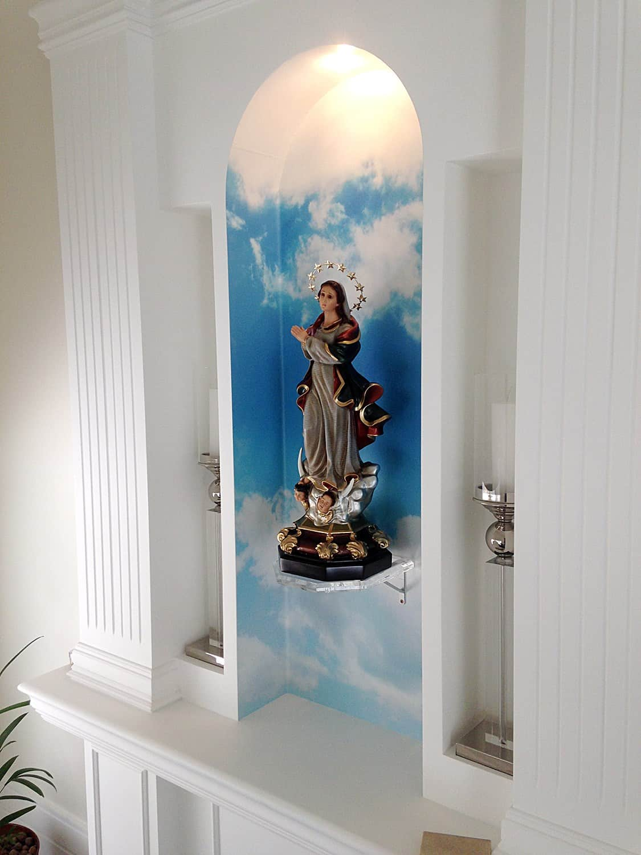 Adesivo parede para altar
