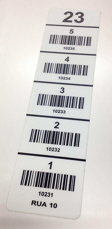 Etiqueta de alta resistência de policarbonato para identificação de porta-pallets