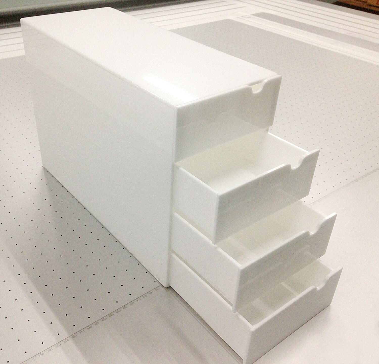 Organizador em acrílico branco