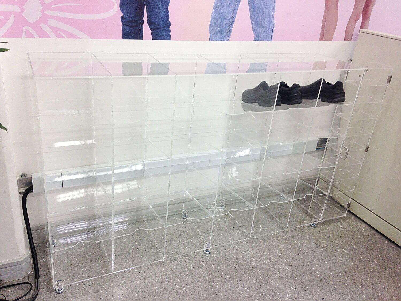 Organizador para calçados em acrílico cristal